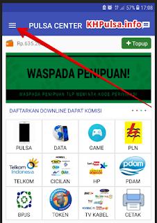 Buka aplikasi dan klik garis 3 kiri atas