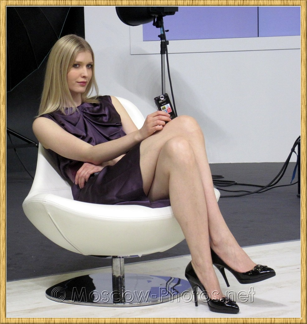 Long Legs Blonde Sony Moscow Model