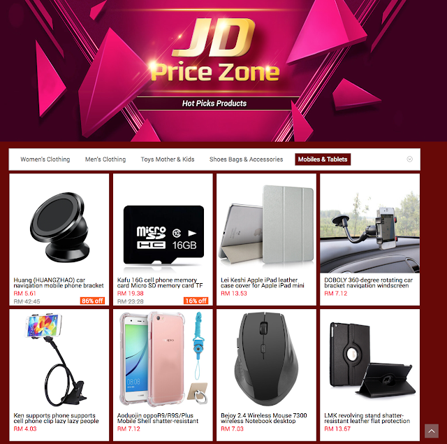 JD does have a whole array of items to choose from