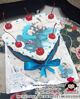 Blackfrorest Cake Dengan Edible Image Foto