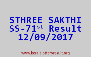 STHREE SAKTHI Lottery SS 71 Results 12-9-2017