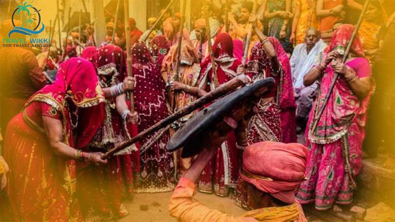 Lathmar Holi festivities