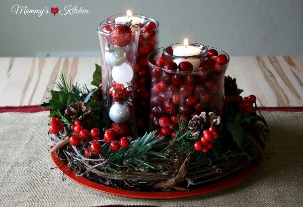 Mommy S Kitchen Recipes From My Texas Kitchen Simple Diy Holiday Cranberry Centerpiece