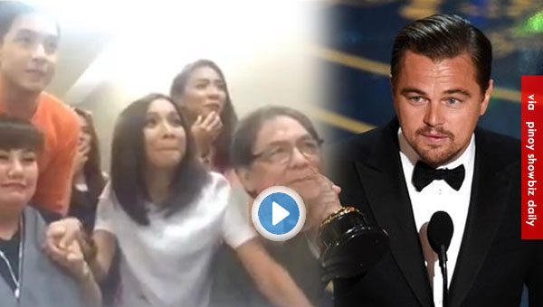 Eat Bulaga Dabarkads reaction to Leonardo Dicaprio's Oscars Winning Moment