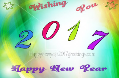 (Happy} New Year 2017 Colorful Greetings Cards Latest
