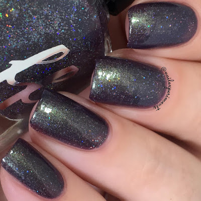 femme fatale woodsy wild and lonesome swatch from the green gables collection