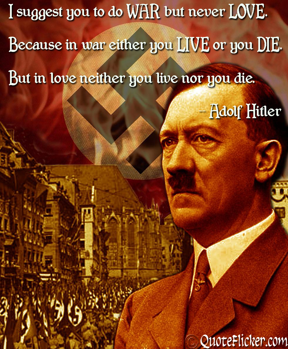 Hitler Quotes About Love : hitler, quotes, about, Quotes, Collection