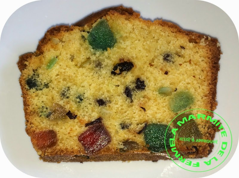 Cake aux fruits confits au thermomix