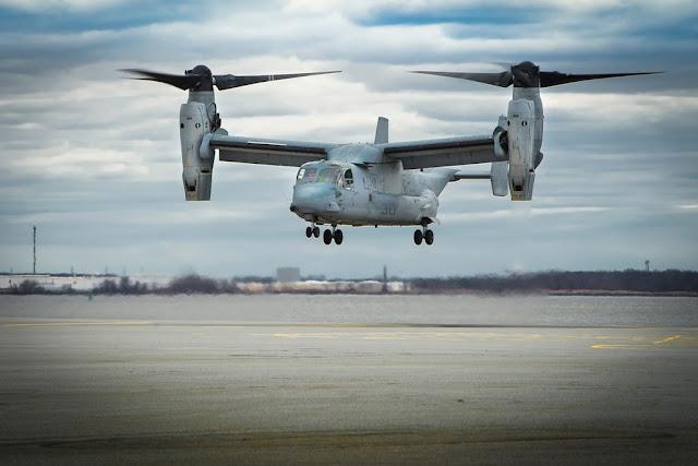 Bell Boeing modify Marine MV-22 Osprey