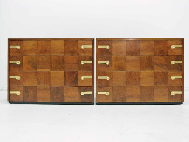 Renzo Rutili for Johnson Furniture Hollywood Regency Dresser Chests 1