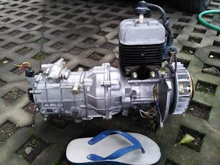 Mesin mini motor roda 3