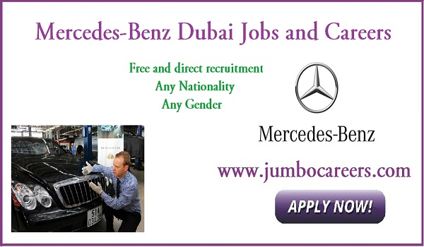 Mercedes-Benz Dubai jobs for Indians, Latest UAE jobs with salary,