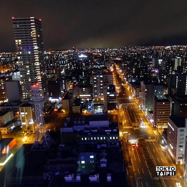 【札幌電視塔】夜裡發亮的高塔 冬夜看遍札幌市中心夜景