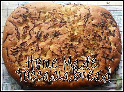 homemade italian foccacia bread