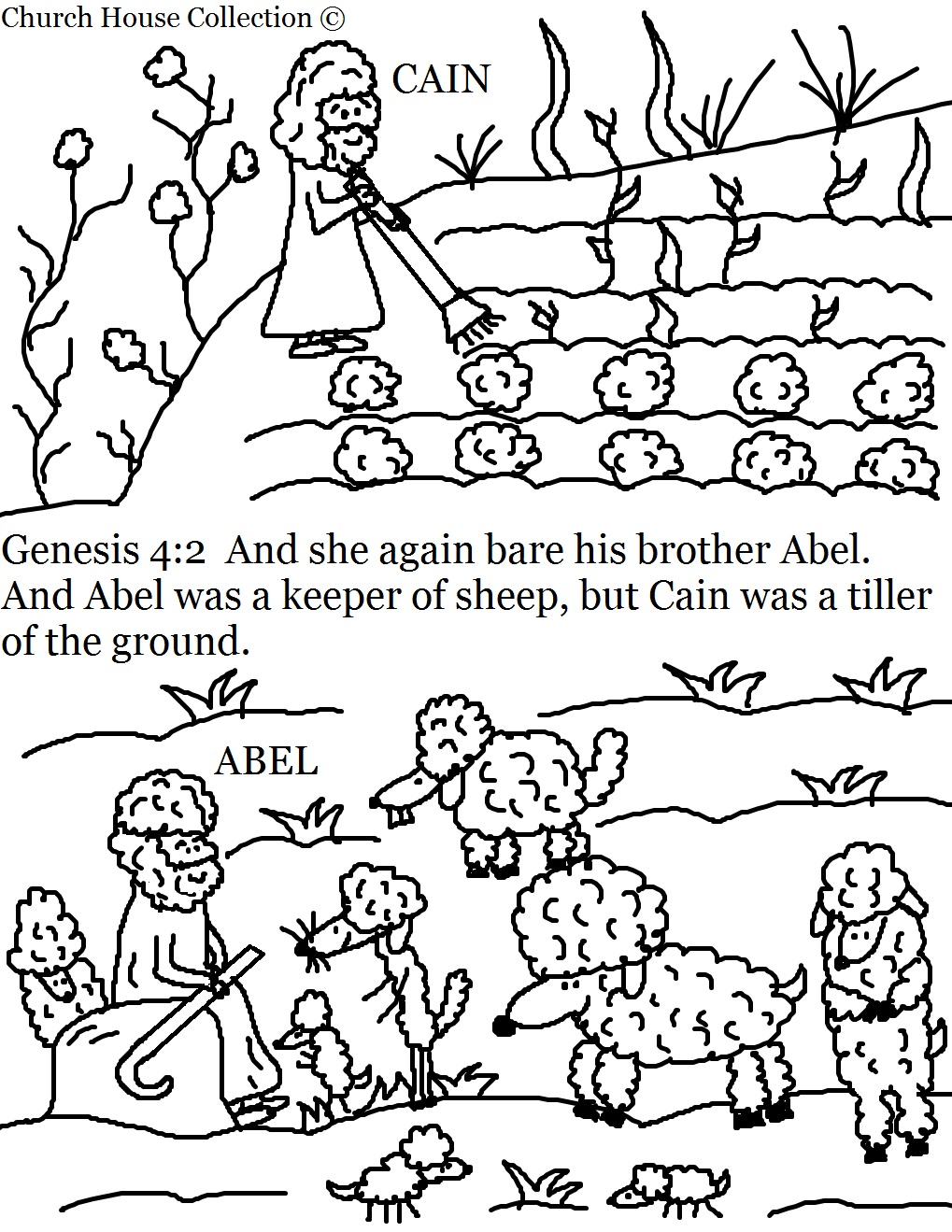 church house collection blog cain and abel coloring pages