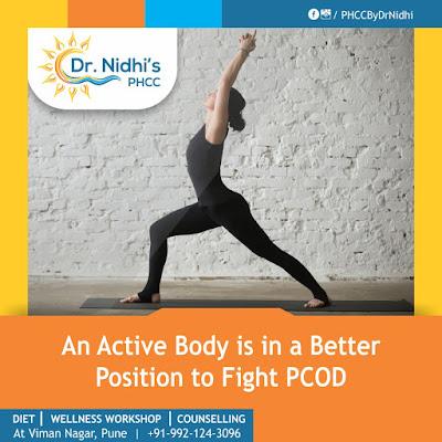 a woman exercising at PHCC pune