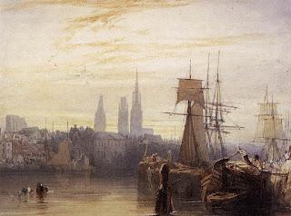 Richard Parkes Bonington (1802-1828) - Vue de Rouen - 1825 - Wallace collection.