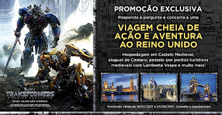 Promoção Transformers UCI Cinemas