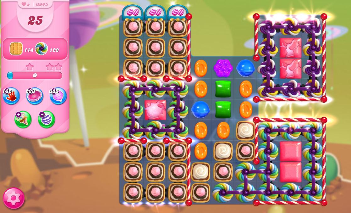 Candy Crush Saga level 6945