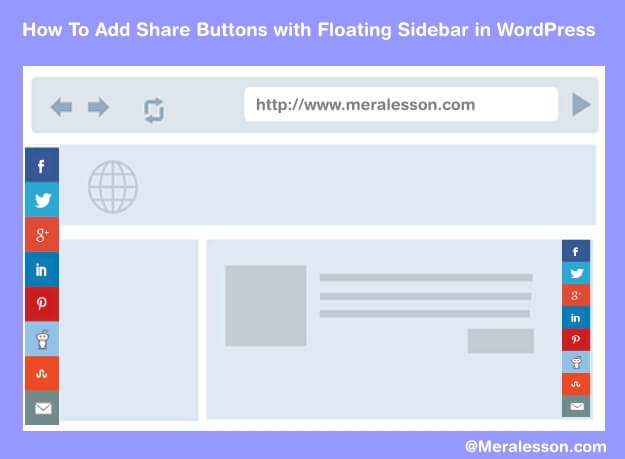 floating share button in WordPress