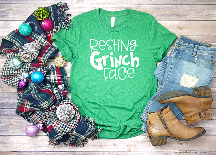 Resting Grinch Face Shirt with Free SVG Cut File