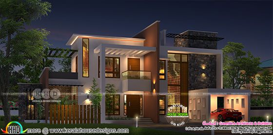 2967 sq-ft 4 bedroom modern contemporary modern home