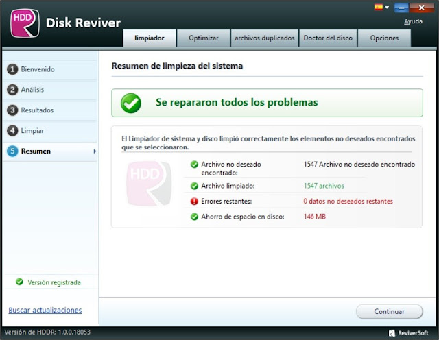 ReviverSoft Disk Reviver Español