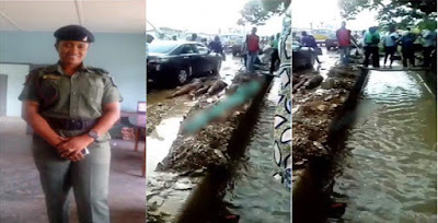 Female Soldier dehumanizes two men for scratching her car in Lagos (Video)