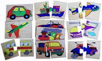 Mainan Pendidikan Mencocokkan Kendaraan