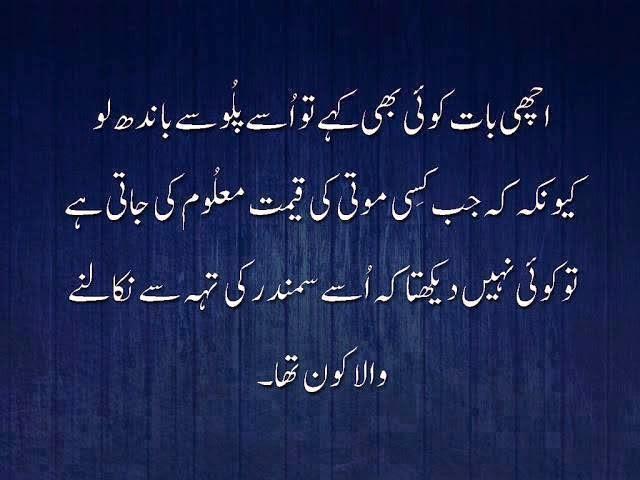 Aqwal e Zareen…