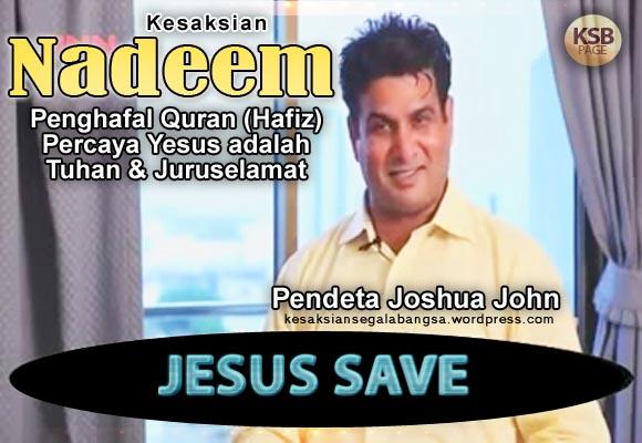 Kesaksian Penghafal Quran Percaya Yesus adalah Tuhan & Juruselamat