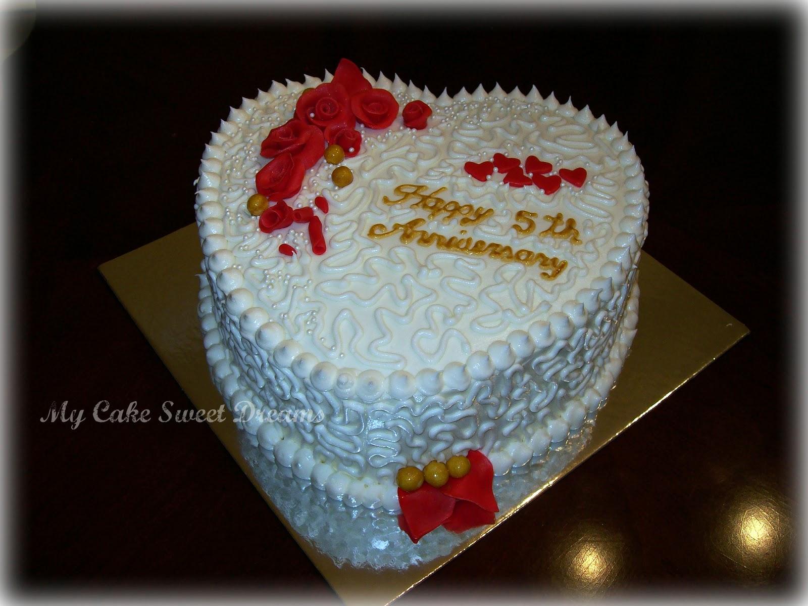 Quot my cake sweet dreams anniversary