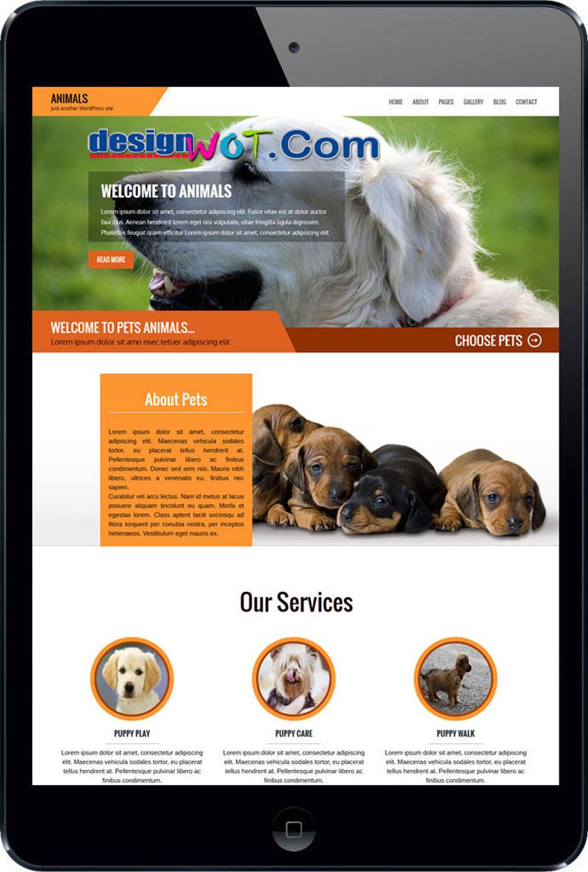 Animals WordPress Theme