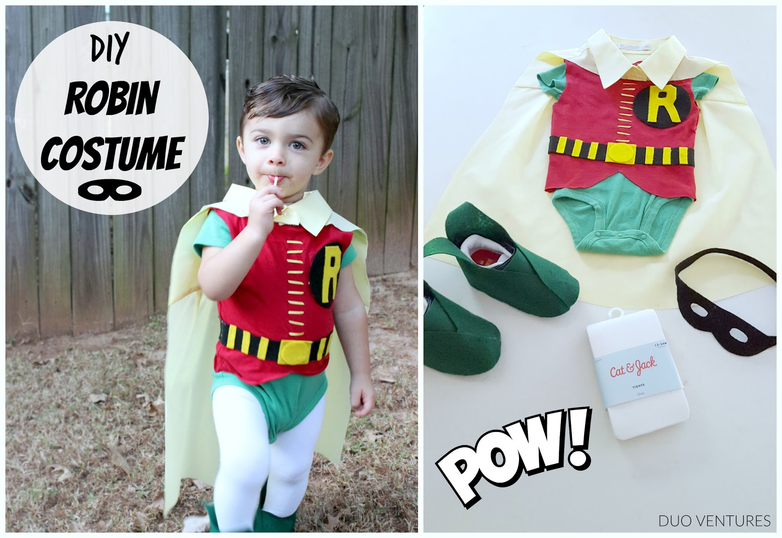 Easy DIY  Robin  Toddler Halloween Costume  sc 1 st  Duo Ventures & Duo Ventures: Easy DIY