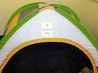 tent in a classroom (Brick by Brick)