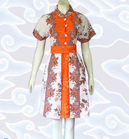 contoh model baju batik wanita modern
