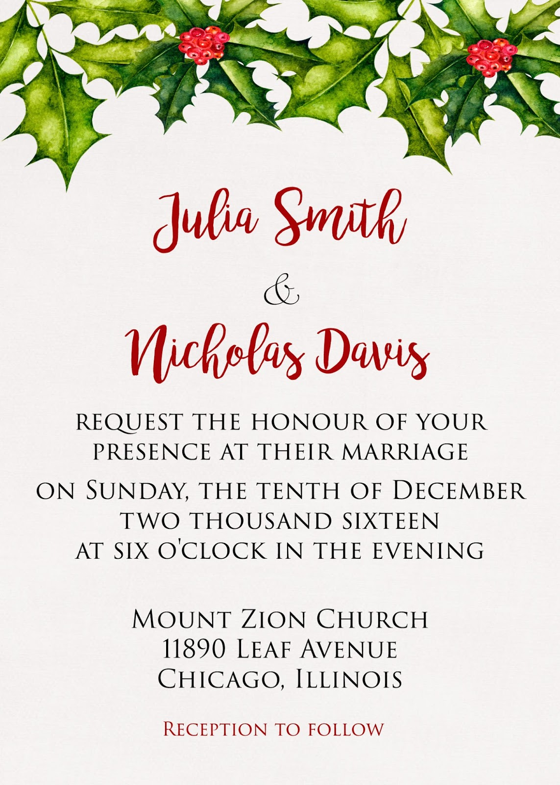 Sugar and Spice Invitations: Top 50 Christmas Wedding Invitations