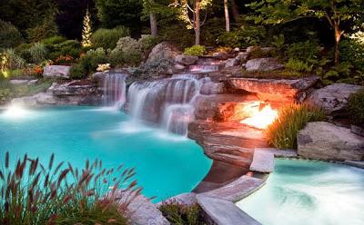 gambar desain kolam renang mewah dan modern rumah