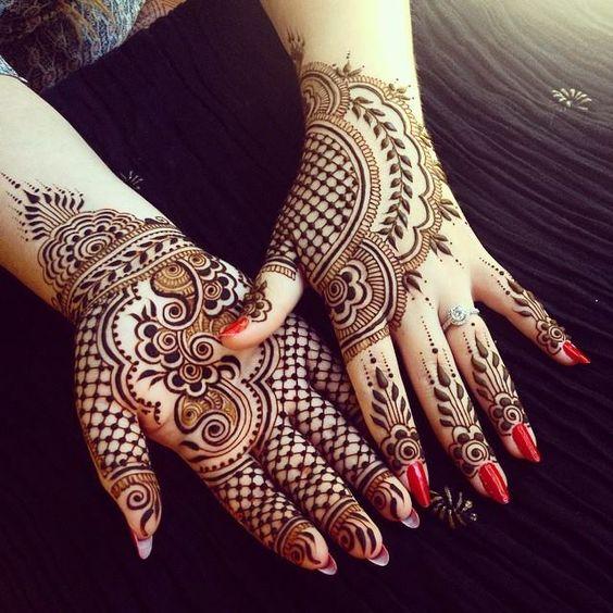 12 Best Jaali Mehndi Designs to try this Eid