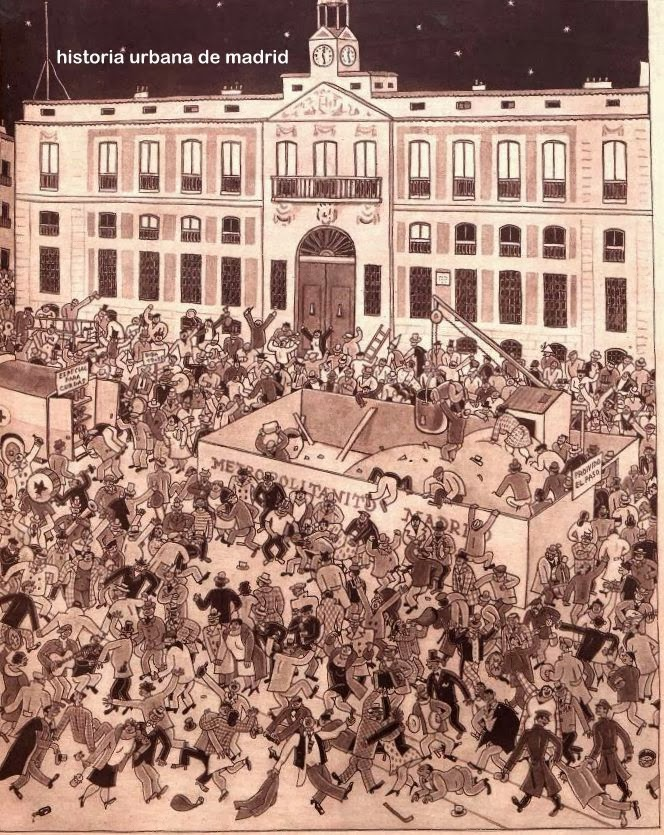 Historia urbana de madrid estampas madrid pueblo for Puerta del sol uvas