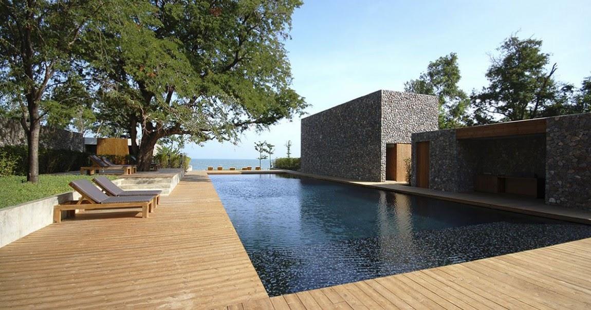 Dise o de casa moderna con paredes de piedra dise o de - Diseno de casas modernas ...
