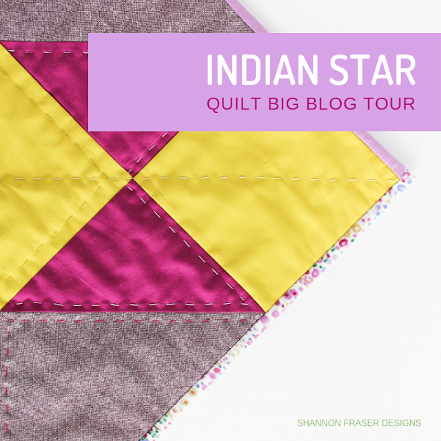 Indian Star Wall Hanging | Quilt Big Blog Tour | Shannon Fraser Designs
