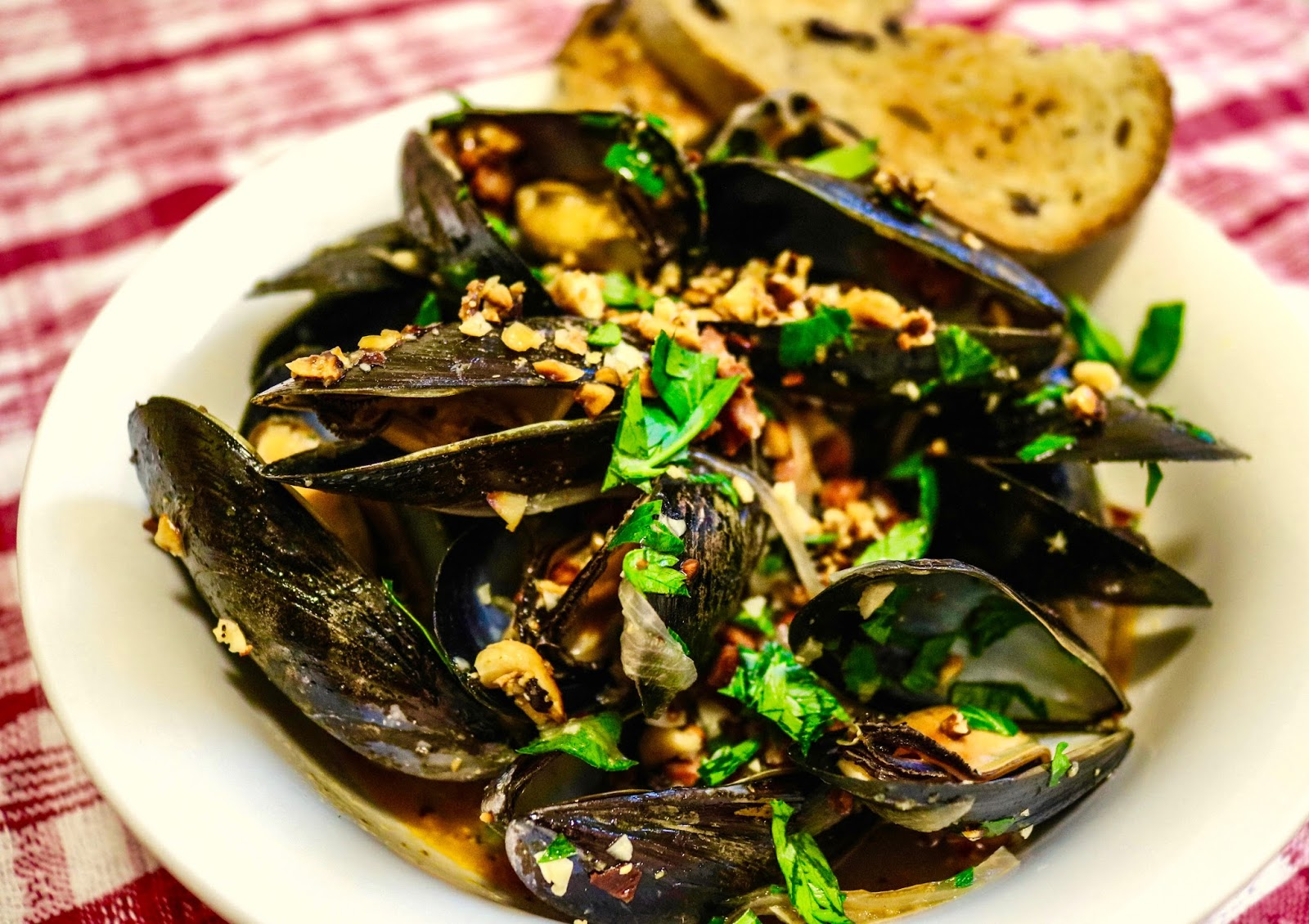 Three Little Figs : Beer-Steamed Mussels with Chorizo and Toasted ...