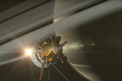 Contatto sonda Cassini con anelli di Saturno