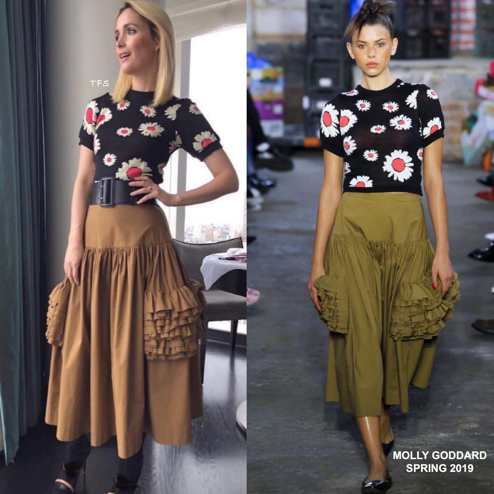 Instagram Style: Rose Byrne in Molly Goddard