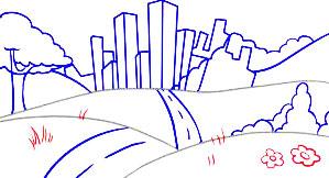 Super Simpel Menggambar Pemandangan Berlatar Belakang Perkotaan