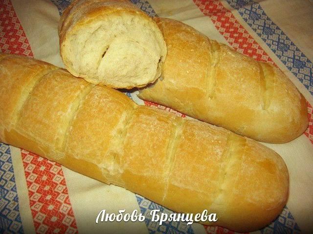 белый домашний хлеб, булка как приготовить