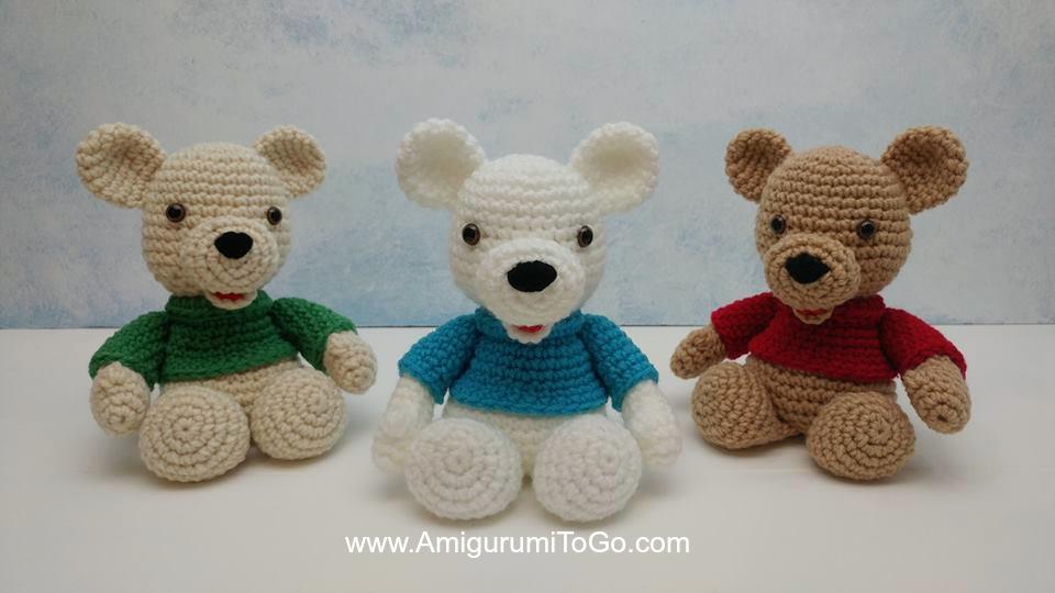 Free Polar Bear Crochet Amigurumi Pattern - Little Bear Crochets | 540x960