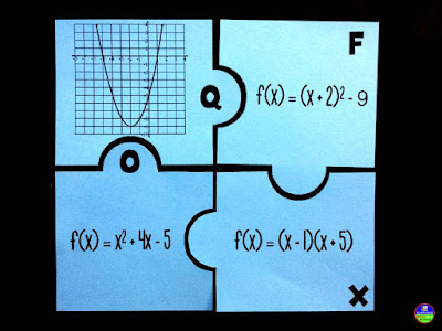Fun with quadratics | quadratics puzzle