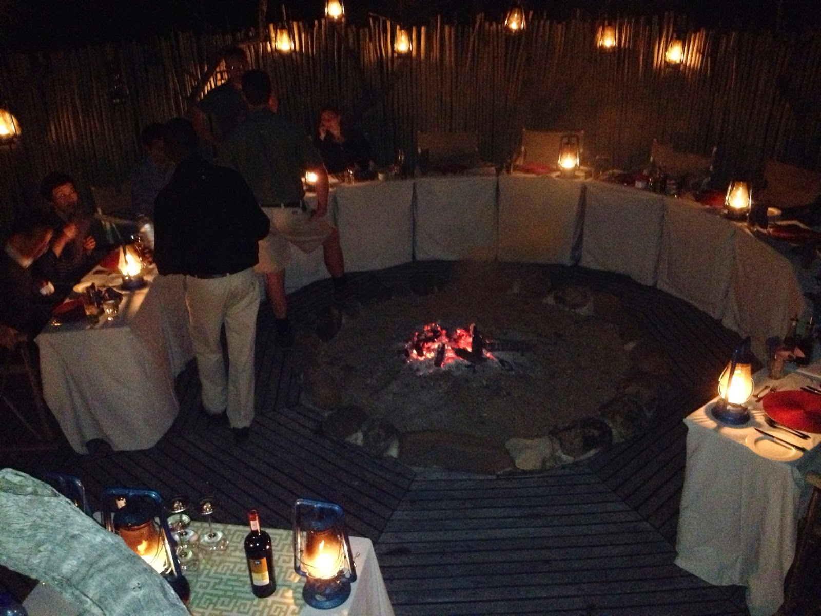 Sabi Sands - Dinner around a fire pit